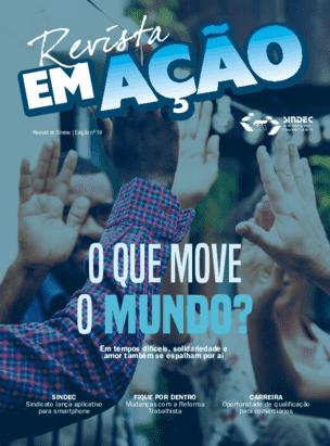 Capa da edição de março da Revista em Ação